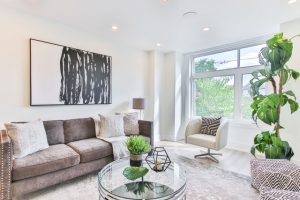 Inside view of a beautiful home that has been staged for sale